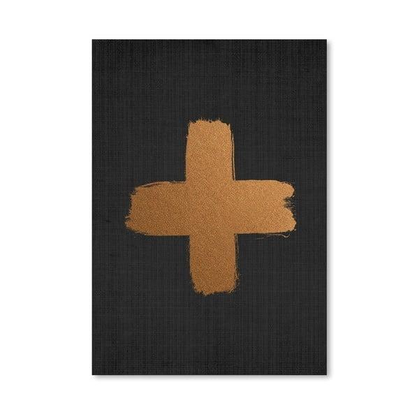 Plakat Cross On Black