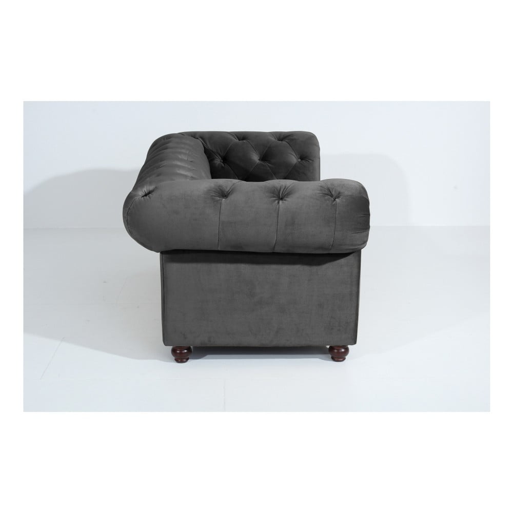 antracytowa sofa dwuosobowa max winzer orleans velvet bonami. Black Bedroom Furniture Sets. Home Design Ideas