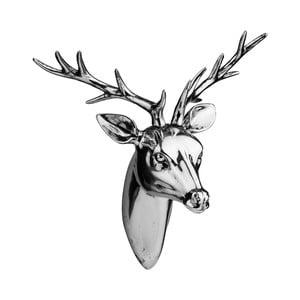Statuetka Deer Head Silver