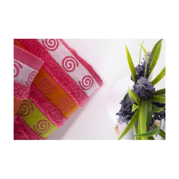 Zestaw 2 ręczników Truva Fuchsia, 90x150 i 50x90 cm