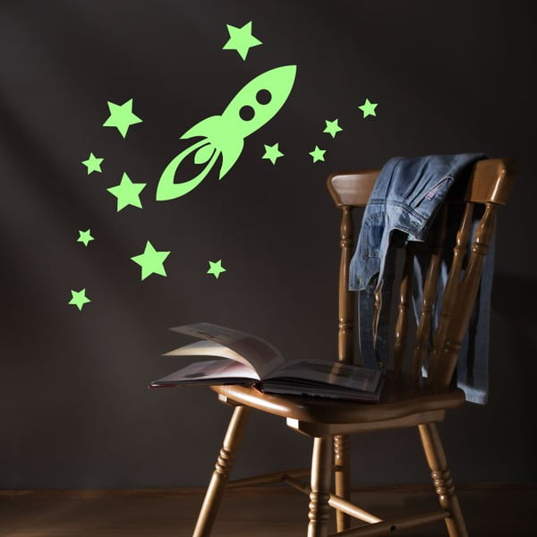 Naklejka świecąca Fanastick Rocket And Stars