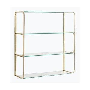 Półka mosiężna ze szklanymi półeczkami RGE Ellen