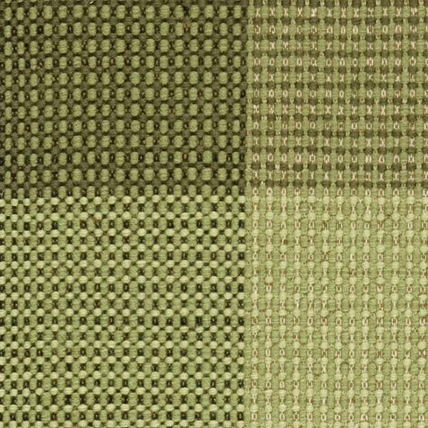 Zielony dywan wełniany tkany ręcznie Genova, 170x240 cm
