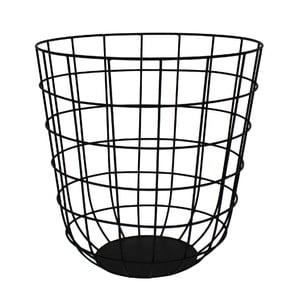 Metalowy koszyk Netz Black, 30 cm