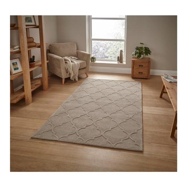 Szarozielony ręcznie tkany dywan Think Rugs Hong Kong Puro Beige, 120x170 cm
