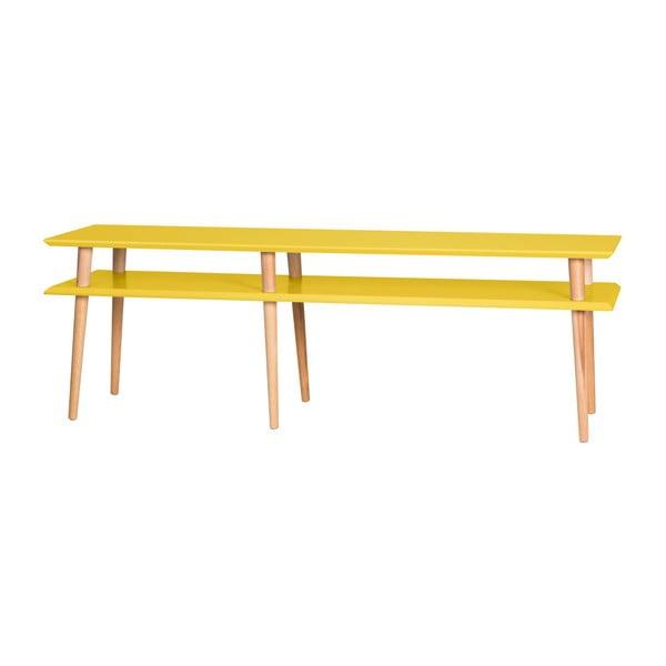 Żółty stolik Ragaba Mugo, dł. 159 cm