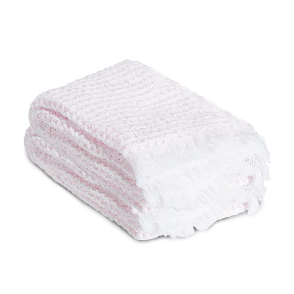 Ręcznik Whyte 65 x 100 cm, biało-różowy