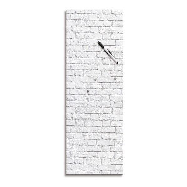 Tablica magnetyczna Eurographic White Brick, 30x80 cm