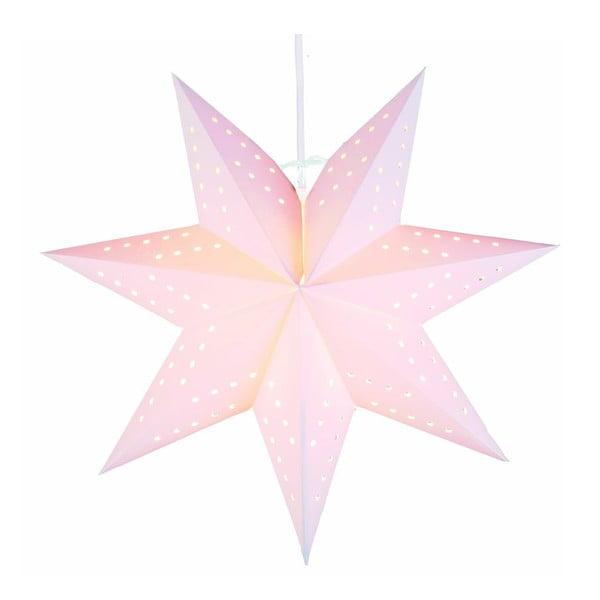 Świecąca gwiazda ze stojakiem Bobo Pink, 34 cm