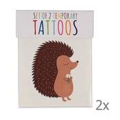 Zestaw 2 tatuaży zmywalnych Rex London Honey And Rusty