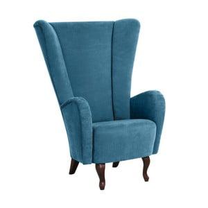 Niebieski fotel Max Winzer Aurora Velor