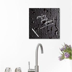Tablica magnetyczna Eurographic Black Rain, 30x30 cm