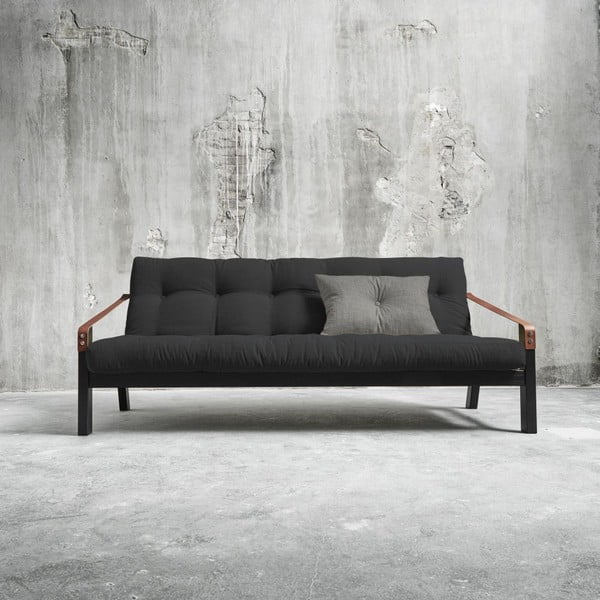 Sofa rozkładana Karup Poetry Black/Dark Grey/Granite Grey