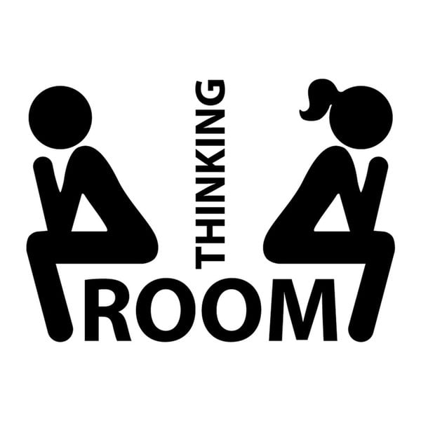 Naklejka Thinking Room