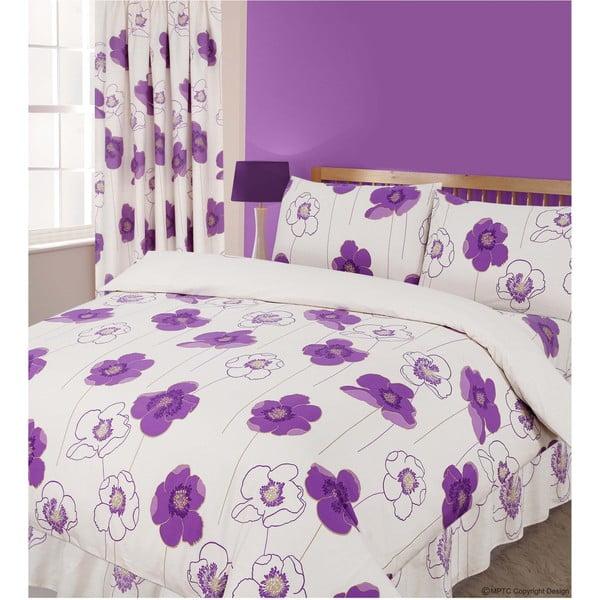 Pościel Poppy Purple, 135x200 cm