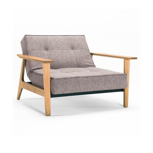 Szary fotel rozkładany z podłokietnikami Innovation Splitback Frej