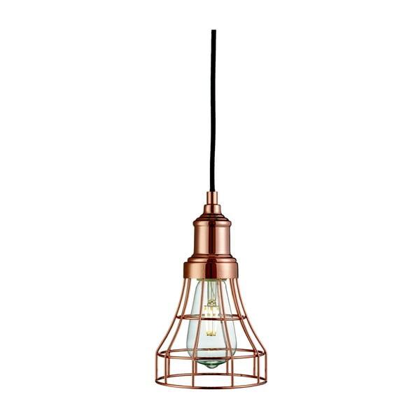 Lampa wisząca Searchlight Tapered Cage, miedziana