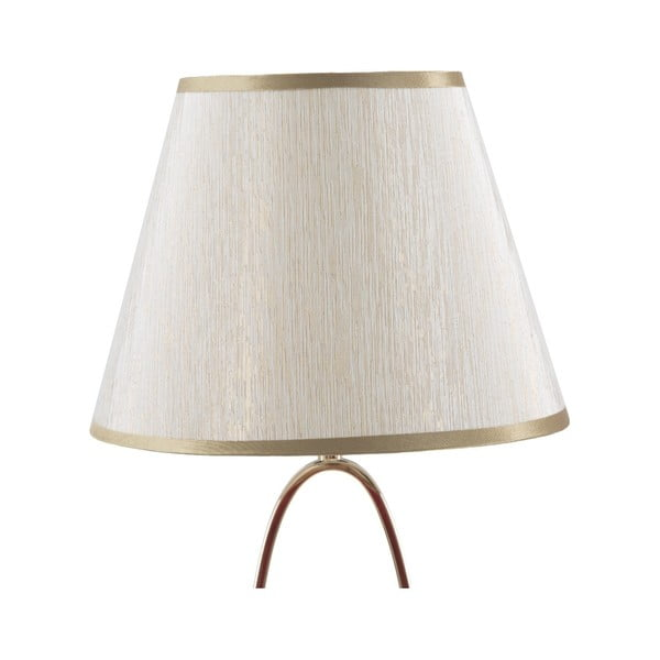 Biała lampa stołowa z konstrukcją w złotym kolorze Mauro Ferretti Flush