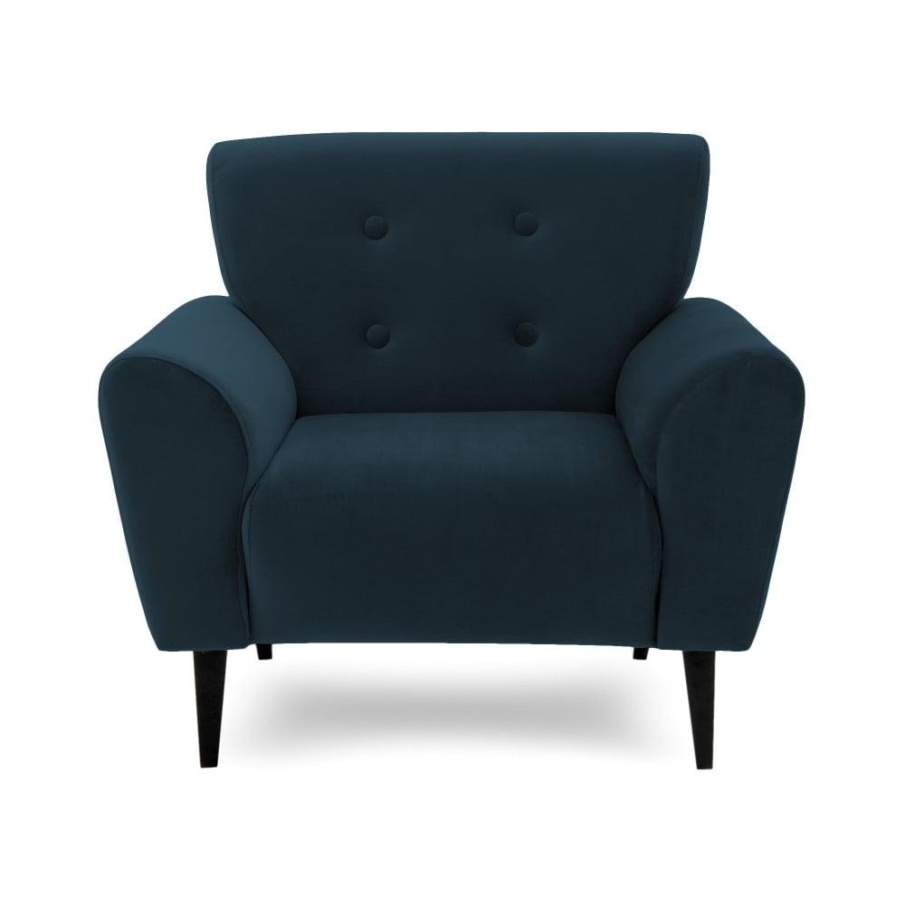 Ciemnoniebieski fotel Vivonita Kiara