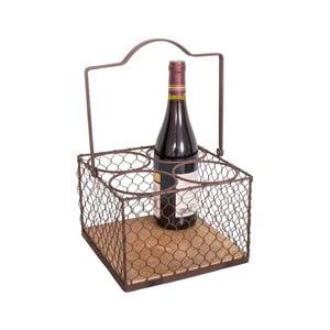 Czarny metalowy koszyk na butelki Antic Line Lousain