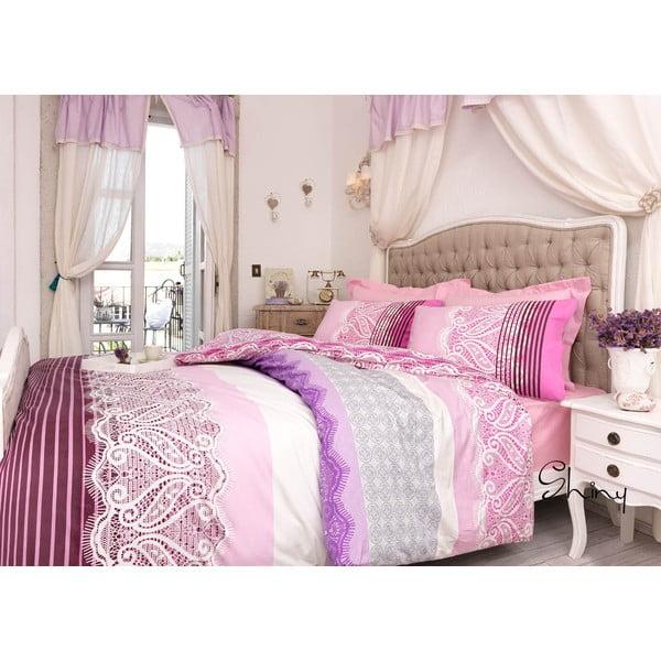 Komplet pościeli Shiny Pink, 200x220