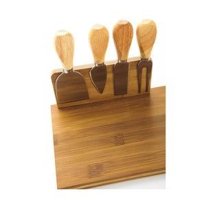 Bambusowy zestaw do serwowania sera Bambum Castell, 5 szt.
