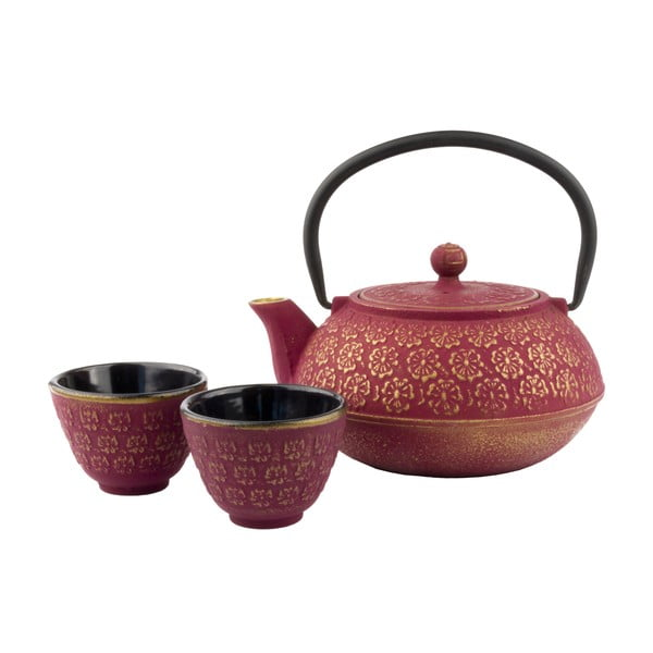 Różowo-złoty  zestaw podarunkowy Bredemeijer Shanghai