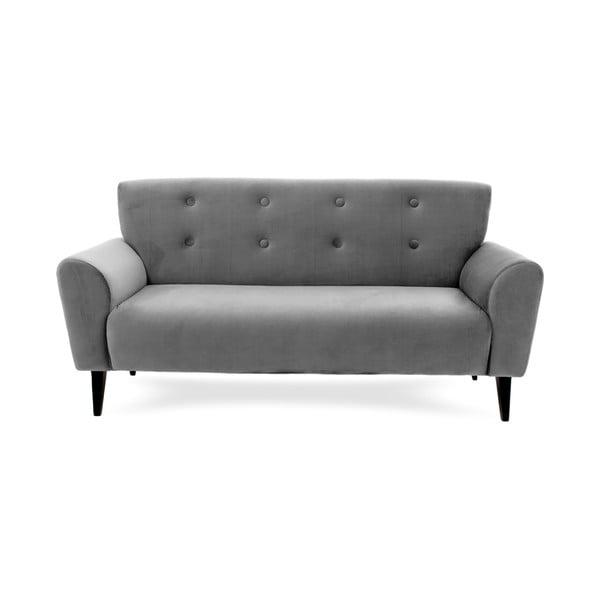 Szara sofa trzyosobowa Vivonita Klara