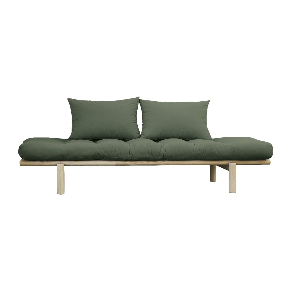 Sofa z zielonym obiciem Karup Design Pace Natural/Olive Green