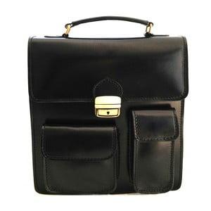 Skórzana torba Verdicchio, czarna