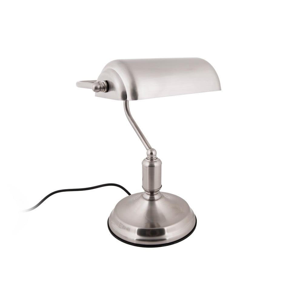 Lampa stołowa w kolorze srebra Leitmotiv Bank