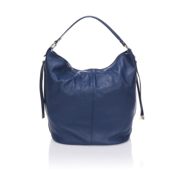 Skórzana torebka Krole Karla, niebieska