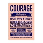 Plakat autorski Courage, 70x100 cm
