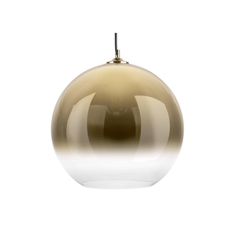 Szklana lampa wisząca w kolorze złota Leitmotiv Bubble,ø40 cm