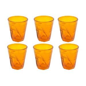 Komplet 6 szklanek Kaleidoskop 225 ml, pomarańczowy