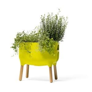 Zielony pojemnik do uprawy roślin Plastia Low Urbalive, wysokość 48 cm