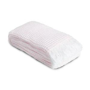 Ręcznik Whyte 100x160 cm, biało-różowy