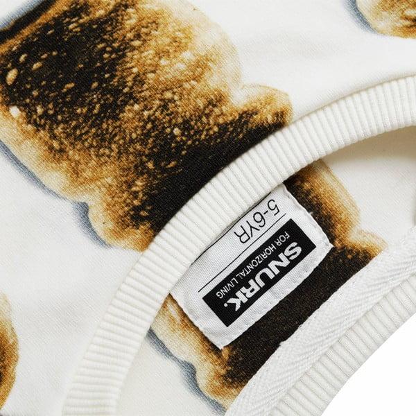 Biała bluza dziewczęca Snurk Toast, 104
