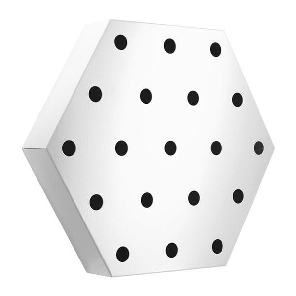 Stojak na wino Hexagon Maxi, biały