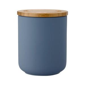 Niebieski maotwy pojemnik kamionkowy Ladelle Stak, wys. 13 cm