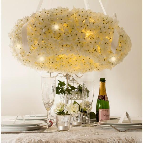 Wieniec ślubny z lampkami LED Hydrangea