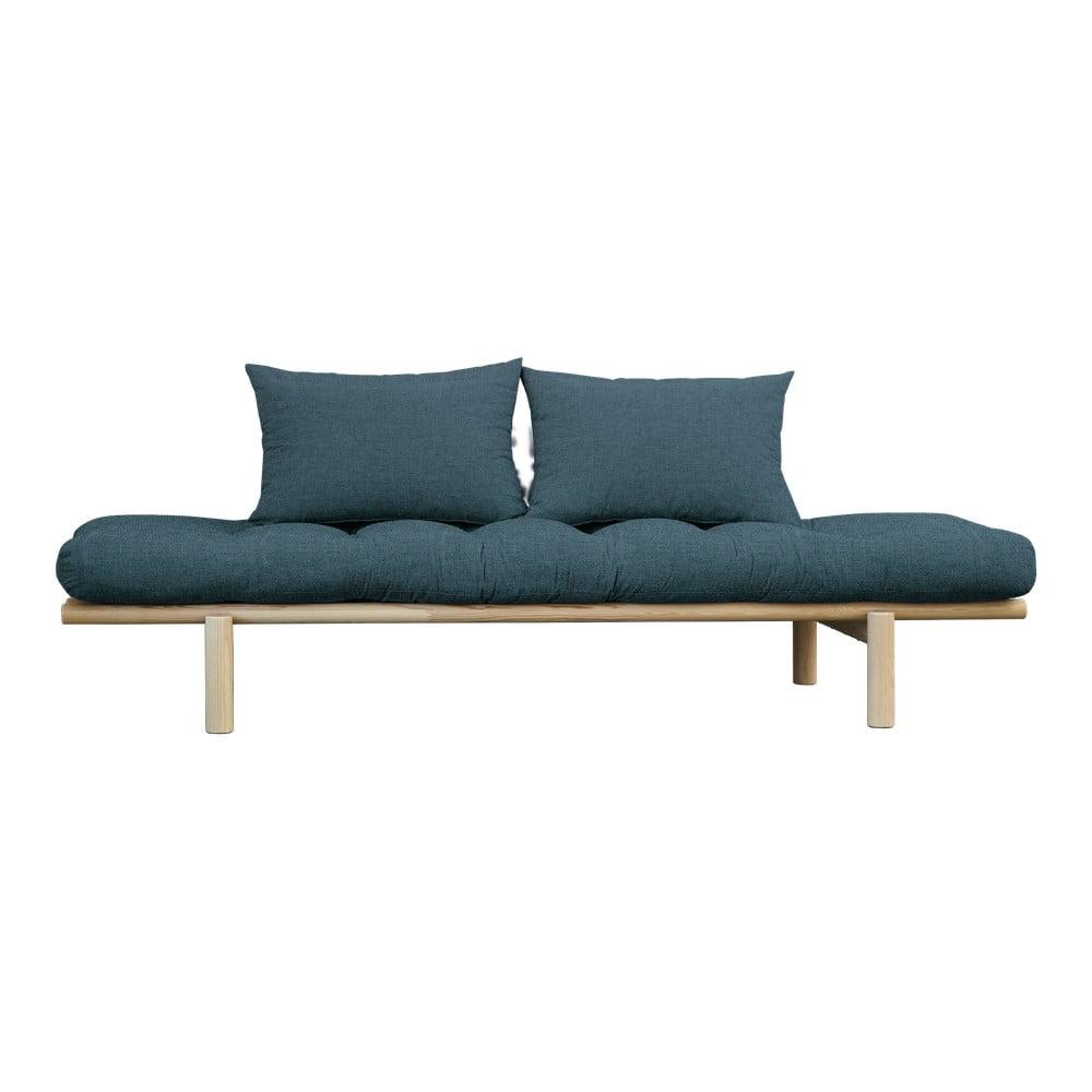 Sofa z ciemnoniebieskim pokryciem Karup Design Pace Natural/Deep Blue