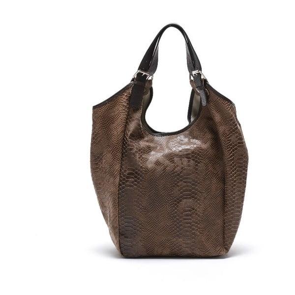 Skórzana torebka Carla Ferreri 887 Fango