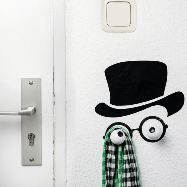 Haczyk dekoracyjny z naklejką na ściane Donkey Creative Lab Mister Hookly