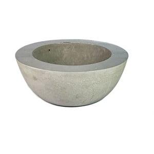 Mała betonowa misa, srebrna