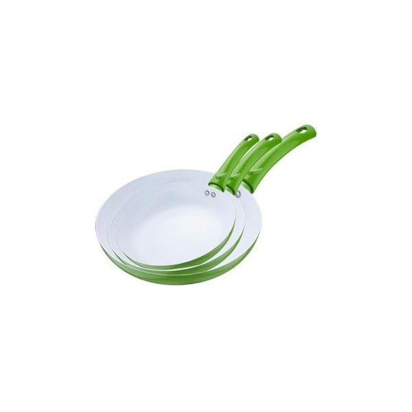 Zestaw patelni Frying Pan Green, 3 szt.