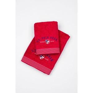 Komplet 2 ręczników Towel US Polo Red, 50x100 a 70x140 cm
