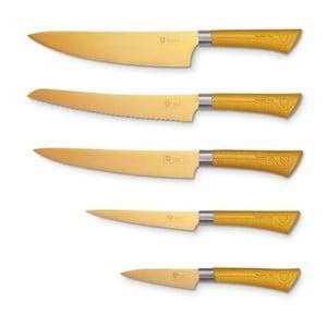 5-częściowy komplet noży Titan, złote