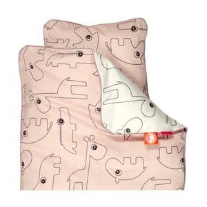 Różowa pościel dziecięca Done by Deer Contour, 100x140 cm