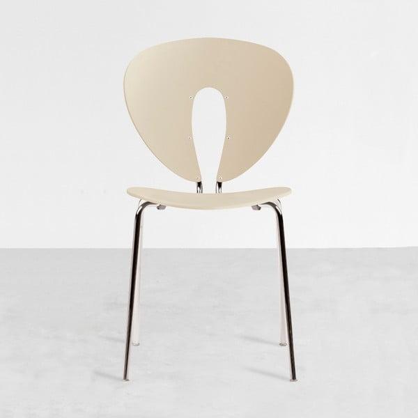 Krzesło Globus, kremowe/błyszczące nogi